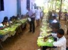 Children at the lunch-time feast