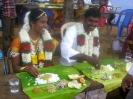 Banu and Gomathi enjoying the lunch-time feast