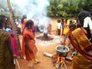 Cooking sweet (Pongal) at the Children's Home